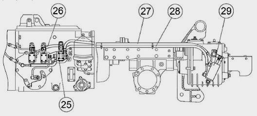 схема подключения переднего моста на тракторе мтз 1221